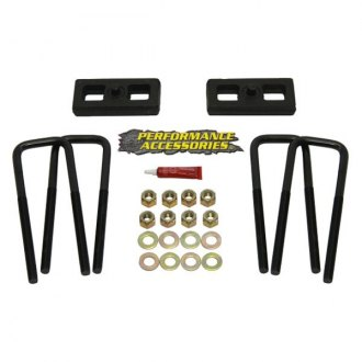 "Performance Accessories® - 2"" Tapered Rear Lifted Blocks and U-Bolts"