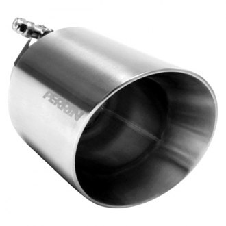 "PERRIN Performance® - 304 SS Round Angle Cut Double-Wall Exhaust Tip (2.135"" ID, 4"" OD)"