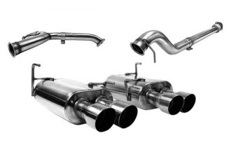 PERRIN Performance® PSP-EXT-349BR - 304 SS Cat-Back Exhaust System with Dual Tip