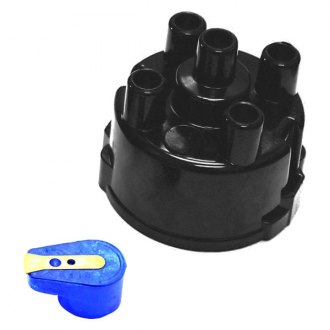 PerTronix® - Flame-Thrower™ 45D Style Black Distributor Cap and Rotor Kit