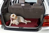 Image may not reflect your exact vehicle! Pet Pad® - Burgundy Cargo Protector