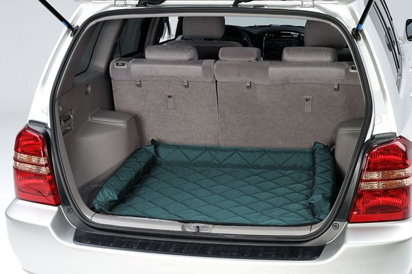Image may not reflect your exact vehicle! Pet Pad® - Hunter Green Cargo Protector