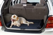 Image may not reflect your exact vehicle! Pet Pad® - Navy Blue Cargo Protector