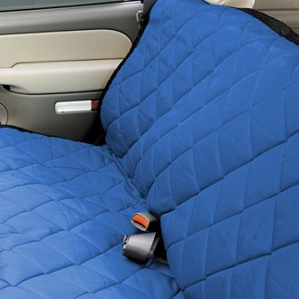 Image may not reflect your exact vehicle! Pet Pad® - Bench Seat Protector - Bright Blue