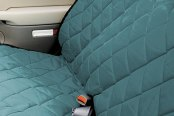 Image may not reflect your exact vehicle! Pet Pad® - Hunter Green Bench Seat Protector
