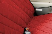Image may not reflect your exact vehicle! Pet Pad® - Red Bench Seat Protector