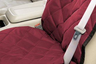 Image may not reflect your exact vehicle! Pet Pad® - Burgundy Bucket Seat Protector