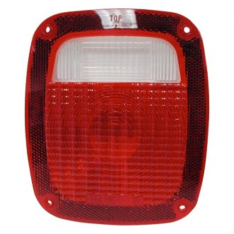 "Peterson® - 445 Series 6.25x6.75"" Red Rectangular Crystal Tail Light Lens"