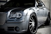 PHINO® - PW-138 SWISH 10 Black with Machined Face and Lip on Chrysler 300C