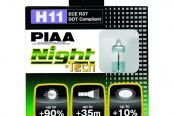 PIAA® - Night-Tech Halogen Replacement Bulbs (H11)