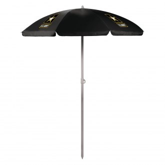 Picnic Time® - U.S. Army 5.5 Black Portable Beach Umbrella