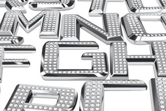 Pilot® - Bling Chrome Letters, Numbers and Symbols