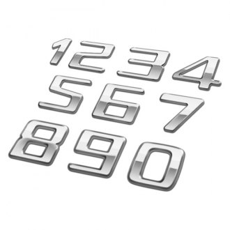 Pilot® - Chrome Letters, Numbers and Symbols