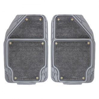 Pilot FM-09G - Platinum Gray 1st and 2nd Row Floor Mats Set