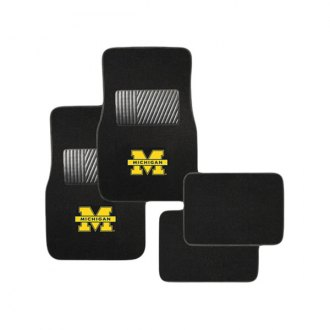 Pilot FM-902 - Collegiate 1st and 2nd Row Floor Mats Set with Michigan Logo