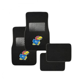 Pilot FM-910 - Collegiate 1st and 2nd Row Floor Mats Set with Kansas Logo