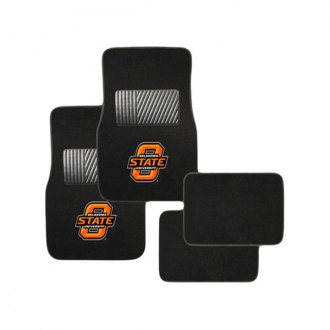 Pilot® - Collegiate 1st and 2nd Row Floor Mats Set with Oklahoma State Logo