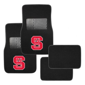 Pilot® - Collegiate 1st and 2nd Row Floor Mats Set with North Carolina State Logo