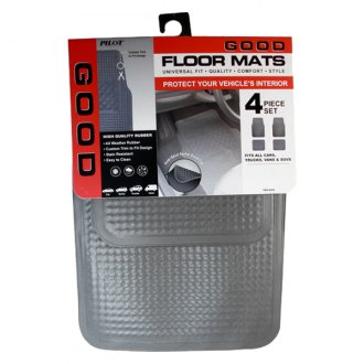 Pilot® - Vinyl Construction Gray 1st and 2nd Row Floor Mats Set