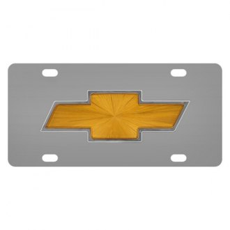 Pilot® - Chrome License Plate with Chevy Logo