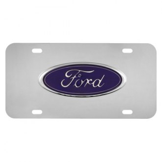 Pilot® - Chrome License Plate with Ford Logo