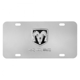 Pilot® - Chrome License Plate with Dodge Logo