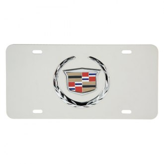 Pilot® - Chrome License Plate with 3D Cadillac Logo