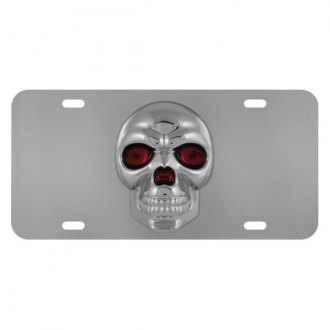 Pilot® - License Plate with Style 2 Skull Logo