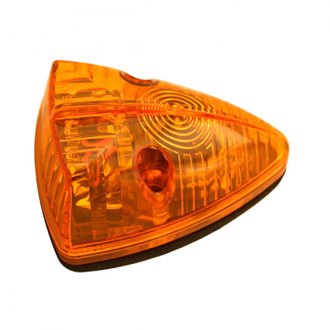 "Pilot® - 4""x3"" Triangular Black/Amber LED Cab Roof Light"