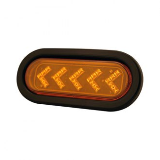 "Pilot® - Arrow Style 6""x2"" Oval Black/Amber LED Turn Signal Light"