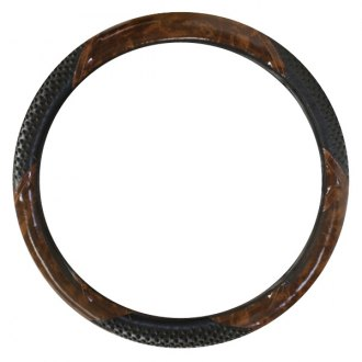 Pilot® - Burlwood Steering Wheel Cover with Black Massage Grip