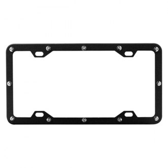 Pilot® - Black License Plate Frame with Flat Rivet Logo