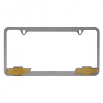 Pilot® - Chrome License Plate Frame with Chevy Logo