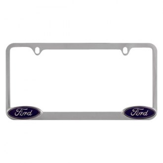 Pilot® - Chrome License Plate Frame with Ford Logo