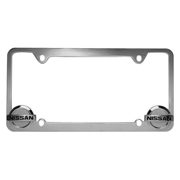 Pilot® WL071-C - Chrome License Plate Frame with Nissan Logo