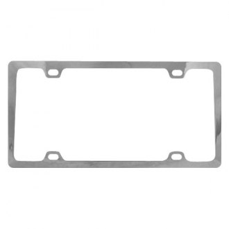 Pilot® - 4-Hole Mount Slim Chrome License Plate Frame