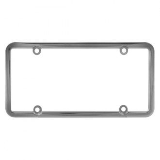 Pilot® - 4-Hole Mount Square Top Chrome License Plate Frame