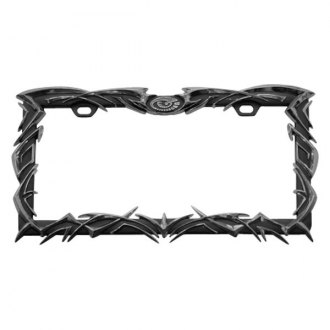 Pilot® - Chrome Tribal Flame License Plate Frame