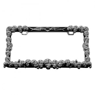 Pilot® - Chrome Multi Skull License Plate Frame