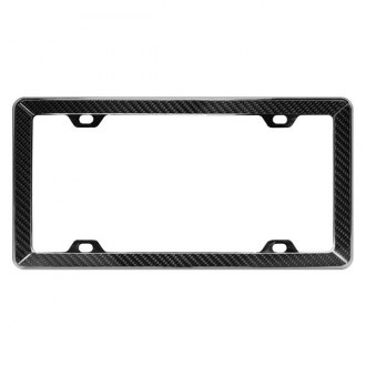 Pilot® - Chrome License Plate Frame with Carbon Fiber