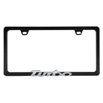 Pilot® - Black License Plate Frame with Chrome Turbo Logo