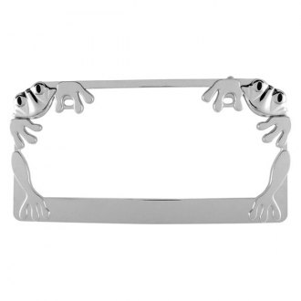 Pilot® - Chrome License Plate Frame with Froggy Logo