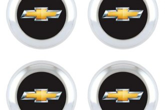 Pilot® - License Plate Fastener Caps with Chevy Logo
