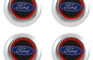 Pilot® - License Plate Fastener Caps with Ford Logo