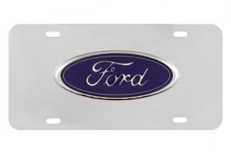 Pilot® - 3D Ford Logo on Chrome License Plate