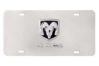 Pilot® - 3D Dodge Logo on Chrome License Plate