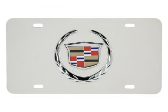 Pilot® - 3D Cadillac Logo on Chrome License Plate