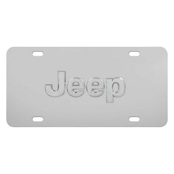 Pilot® - 3D Jeep Logo on Chrome License Plate