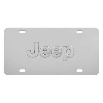 Pilot® - Chrome License Plate with Jeep Logo
