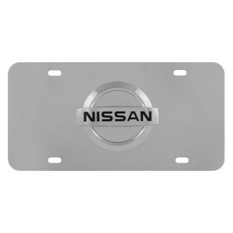 Pilot® - Chrome License Plate with Nissan Logo